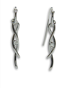 italian diamond white gold earrings