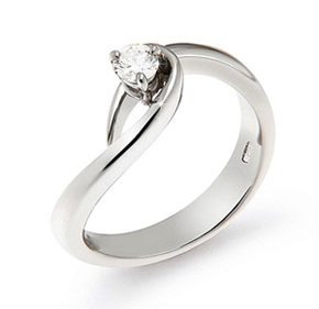 italian white gold solitaire diamond engagement ring