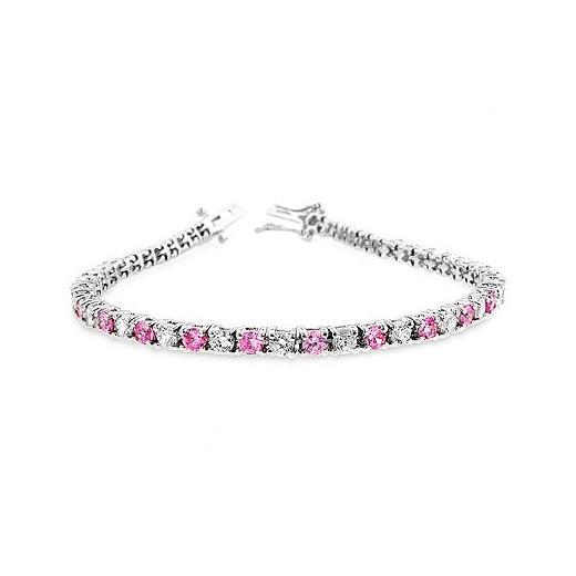 9e3c81b47 Classic Lace Pink CZ Tennis Bracelet