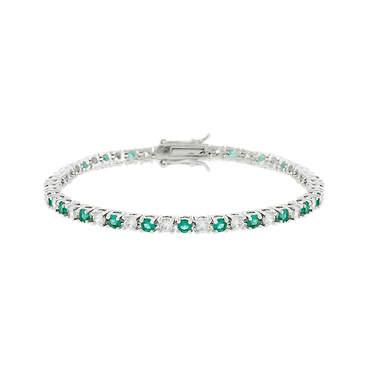 Classic Evergreen Tennis Bracelet