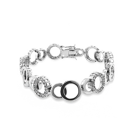 Contemporary Circle Bijoux 7 Inch Bracelet