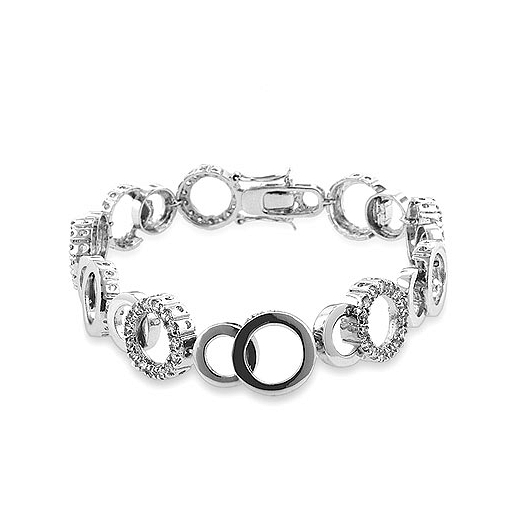 Contemporary Circle Bijoux 8 Inch Bracelet