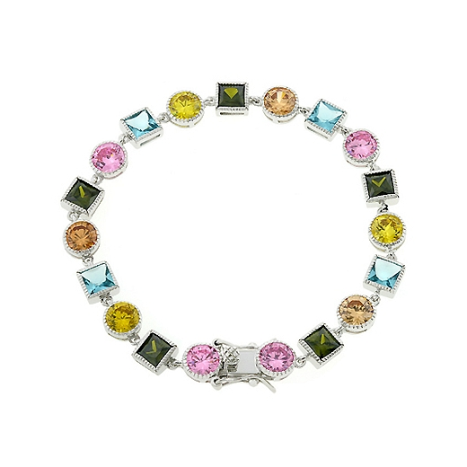 Contemporary Spring Fling CZ Bracelet