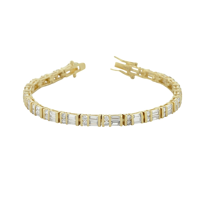 Golden CZ Tennis Bracelet - Jewelry Shop
