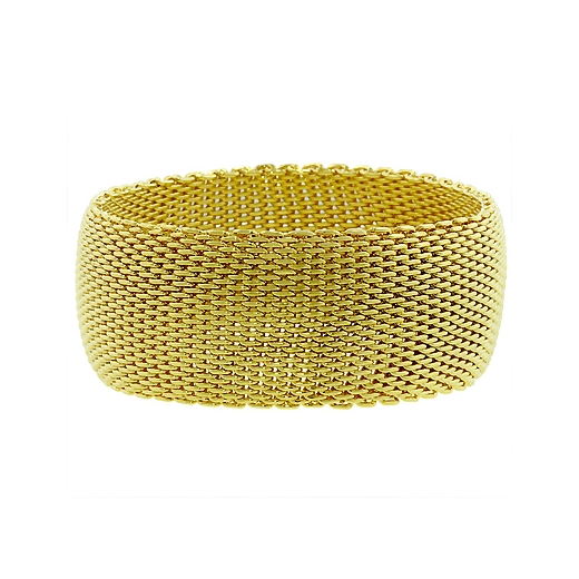 Floral Monaco Gold Bangle - DT Jewellers