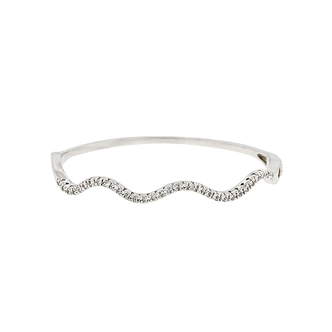 Contemporary Delicate CZ Breeze Bangle