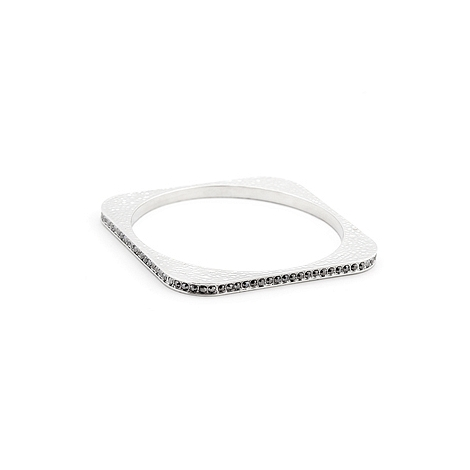 Fashion Hammered Crystal Square Bangle