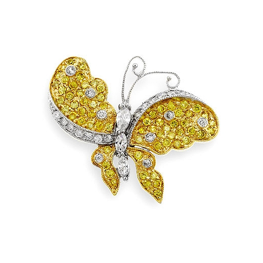 Golden Butterfly Brooch - Online Jewelry