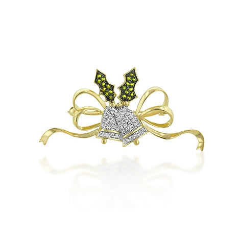 Holiday Bell Brooch - Fine Jewelry On Sale
