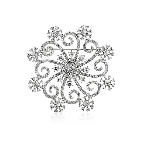 Classic Snowflake Brooch - DT Jewelers