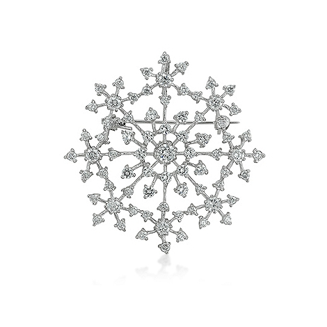 Delicate Snowflake Brooch - Fashion Jewelry
