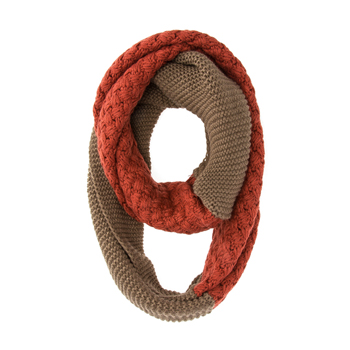 Francesca Orange Infinity Scarf