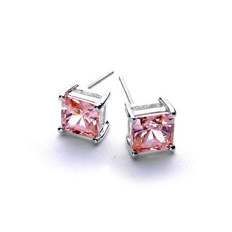 Princess Ice Silver Earrings