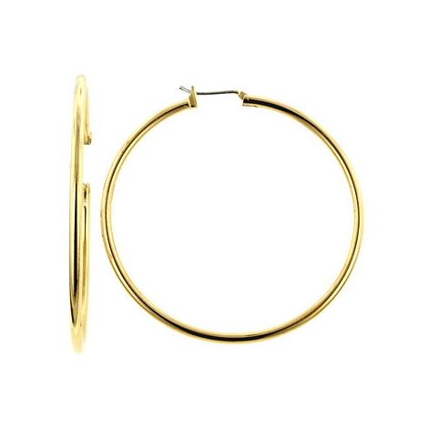 Classic Large Golden Hoop Earrings