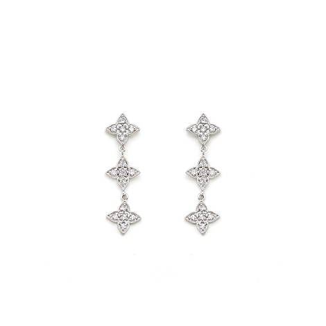 Bridal Four Point Classic Dangle Earrings