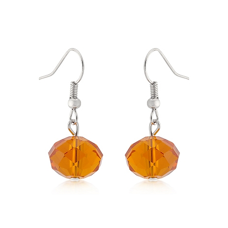 Fashion Orange Faceted Bead Earrings