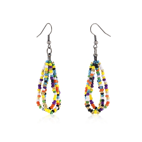 Fashion Candy Beaded Drop Earrings