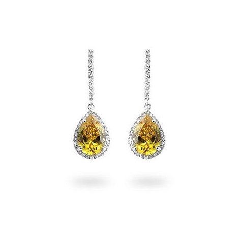 Canary CZ Drop Earrings - DT Jewellery Store