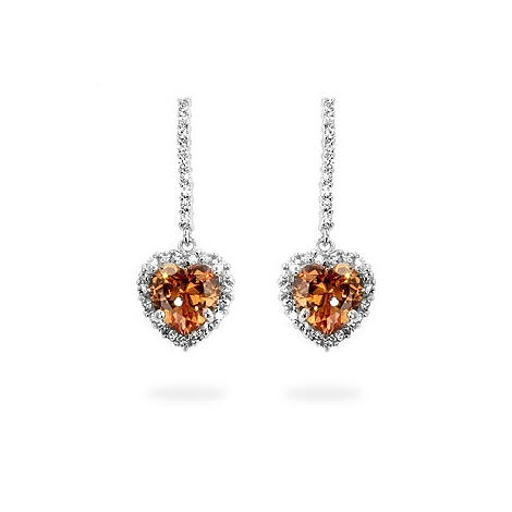 Cinnamon Heart Earrings - DT Jewelers