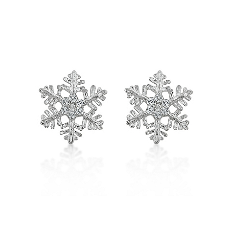 Symbolic Snowflake Stud Earrings