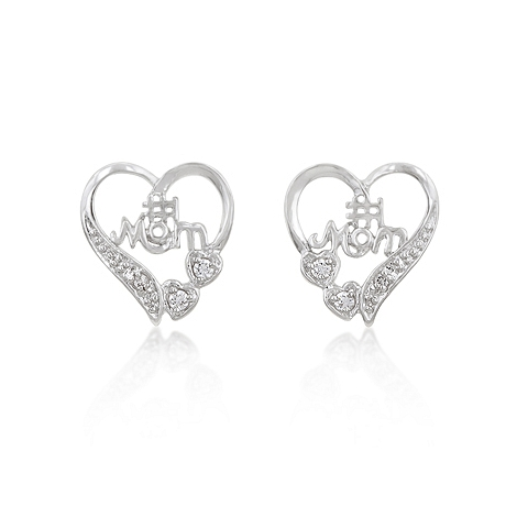Classic No. 1 Mom Heart Earrings