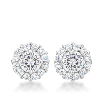Classic Bella Bridal Earrings in Clear 2.52 CT