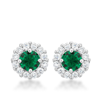 Classic Bella Bridal Earrings in Green 2.52 CT