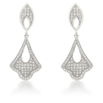Classic Tear Drop Earring Dangles 2.34 CT