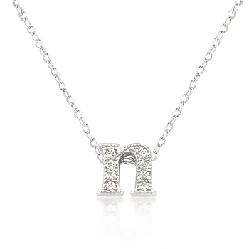 Classic Micro-Pave Initial N Pendant