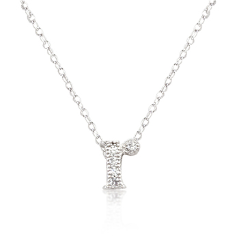 Classic Micro-Pave Initial R Pendant