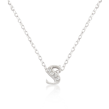 Classic Micro-Pave Initial S Pendant