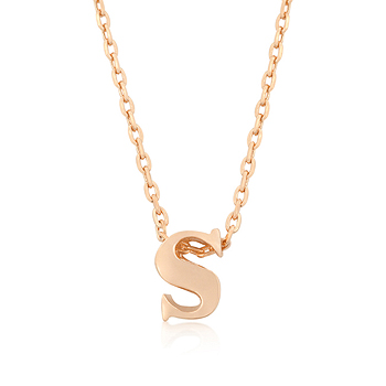 Rose Gold Initial S Pendant From DT Jewellery Store