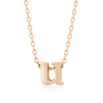 Rose gold initial u pendant from dt jewellers aloadofball Choice Image