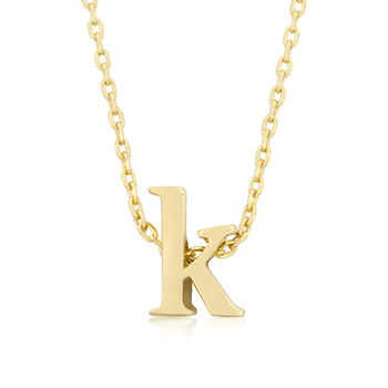Golden Initial K Pendant - Jewelry Gifts
