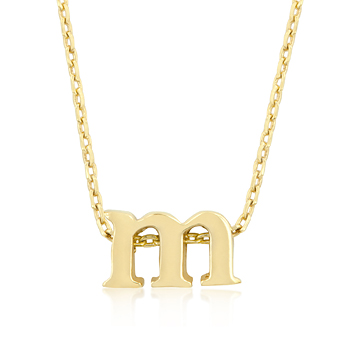 Golden Initial M Pendant Fashion Jewelry Gifts