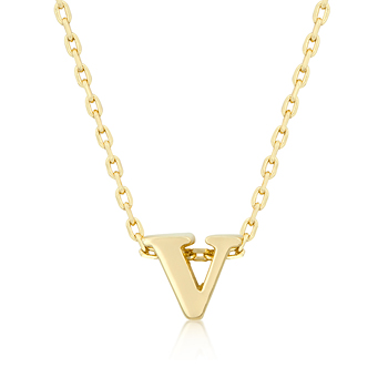 Golden Initial V Pendant From DT Jewelry Store