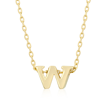 Golden Initial W Pendant From DT Jewellery Store