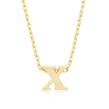 Golden Initial X Pendant From DT Jewelers