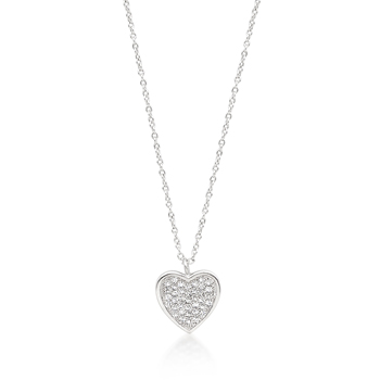 Pave Heart Pendant From DT Jewellery Store