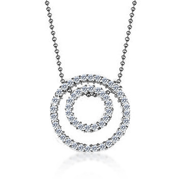 Exclusive Cubic Zirconia Twin Circle Pendant