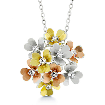 Unique Designer Baroque Summer Bouquet Necklace & Pendant