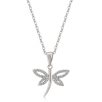 Classic cz dragonfly pendant animal inspired jewelry aloadofball Gallery
