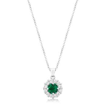 Classic Bella Bridal Pendant in Green 3.28 CT
