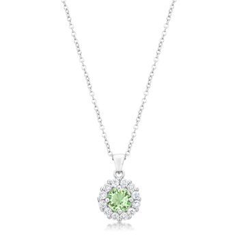 Classic Bella Bridal Pendant in Peridot 3.28 CT