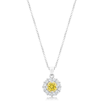 Classic Bella Bridal Pendant in Yellow 3.28 CT