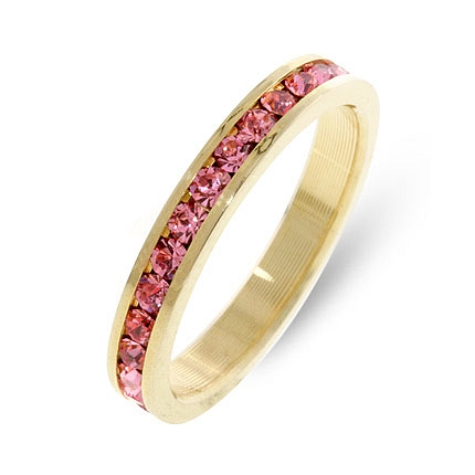 Eternity Stylish Stackables Pink Gold Ring