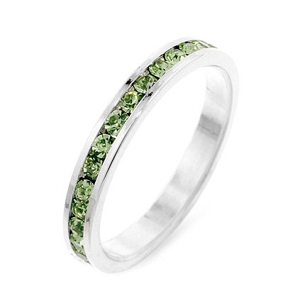Eternity Wedding Ring with Stylish Stackables Peridot