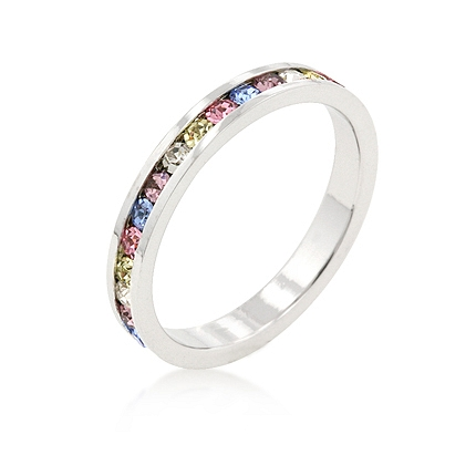 Eternity Stylish Stackables Mixed Silver Ring