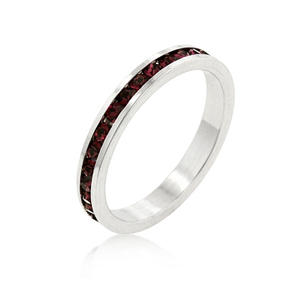 Eternity Stylish Stackables with Ruby CZ Ring