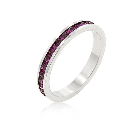 Eternity Stylish Stackables with Amethyst CZ Ring